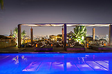 BRAZIL, Rio de Janiero, a view of the pool at night at Hotel Santa Teresa