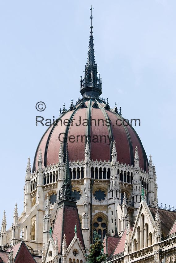 HUN, Ungarn, Budapest, Stadtteil Pest, Kuppel des Parlamentsgebaeudes, UNESCO Weltkulturerbe | HUN, Hungary, Budapest, DistrictPest, dome of Parliament, UNESCO World Heritage