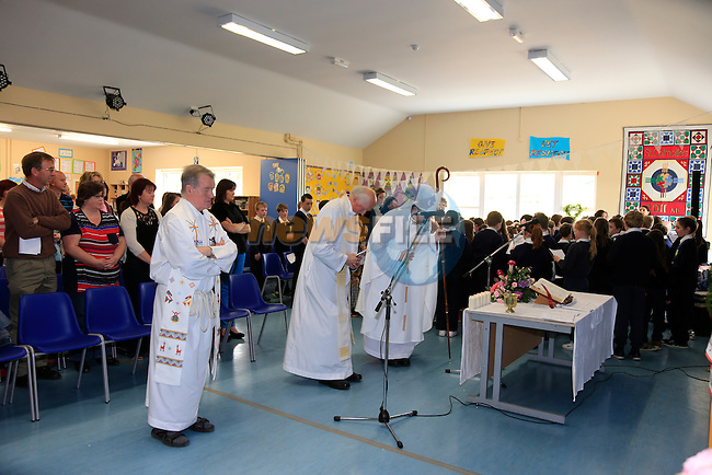at the opening of the new extension to Tullydonnell N.S.<br /> Picture:  www.newsfile.ie