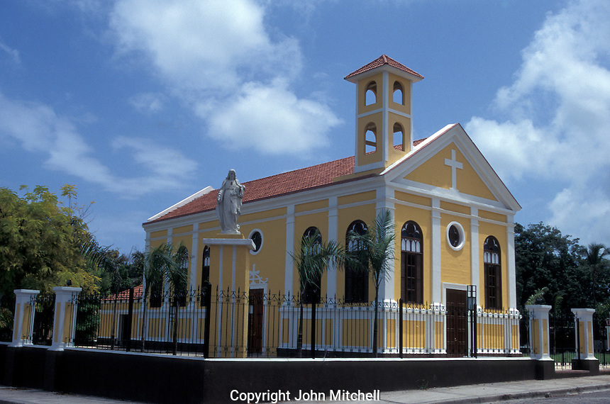 The Iglesia Vieja, an old church in the town of Barhona, Dominican Republic