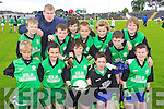 Pupils from Cullina N.S. pictured at the Killarney Garda football blitz in Fitzgerald Stadium, Killarney on Friday, front row l-r: Liam Curran, Paudie Coffey, Luke Sweeney, William Joy, Timmy O'Connor. Back row l-r: Cian O'Sullivan, Pat Fitzgerald (teacher), Thomas Garland, Ronan Curran, Jason Coffey, Rory Clifford, Michael O'Shea and Liam O'Connor. .