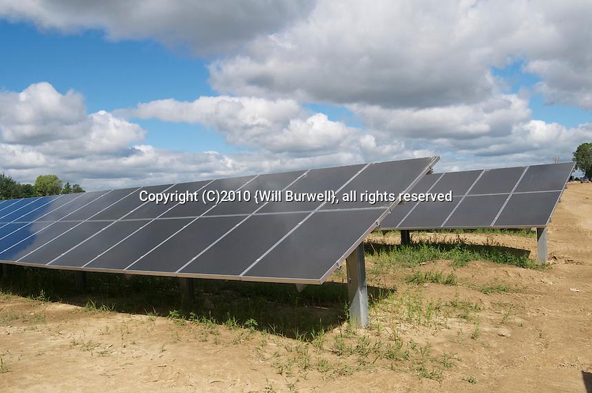 Row of Solar Panel , blue sky