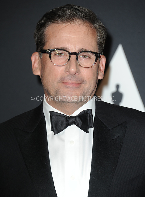 WWW.ACEPIXS.COM<br /> <br /> November 14 2015, LA<br /> <br /> Steve Carell arriving at the Academy of Motion Picture Arts and Sciences' 7th Annual Governors Awards at The Ray Dolby Ballroom at the Hollywood &amp; Highland Center on November 14, 2015 in Hollywood, California<br /> <br /> <br /> By Line: Peter West/ACE Pictures<br /> <br /> <br /> ACE Pictures, Inc.<br /> tel: 646 769 0430<br /> Email: info@acepixs.com<br /> www.acepixs.com