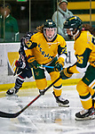 8 February 2020: University of Vermont Catamount Forward Hailey Burns, a Freshman from Kirkland, Québec, in first period action against the University of Connecticut Huskies at Gutterson Fieldhouse in Burlington, Vermont. The Huskies defeated the Lady Cats 4-2 in the first game of their weekend Hockey East series. Mandatory Credit: Ed Wolfstein Photo *** RAW (NEF) Image File Available ***