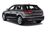 Car pictures of rear three quarter view of a 2019 Audi A3 Sportsportback Sport 5 Door Hatchback angular rear