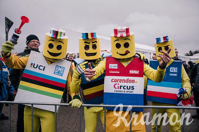 yellow CX fans<br /> <br /> Women Elite Race<br /> UCI CX Worlds 2018<br /> Valkenburg - The Netherlands