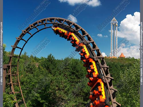 Dragon Mountain Roller Coaster at Marineland Niagara Falls Ontario Canada 2009