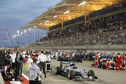 03.04.2016. Sakhir, Bahrain. F1  Grand Prix of Bahrain, 6 Nico Rosberg (GER, Mercedes AMG Petronas Formula One Team) on the grid