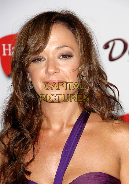 LEAH REMINI.The 4th Annual TV Guide Post Emmy Party held at Social in Hollywood, California, USA..August 27th, 2006.Ref: DVS.headshot portrait purple one shoulder.www.capitalpictures.com.sales@capitalpictures.com.©Debbie VanStory/Capital Pictures