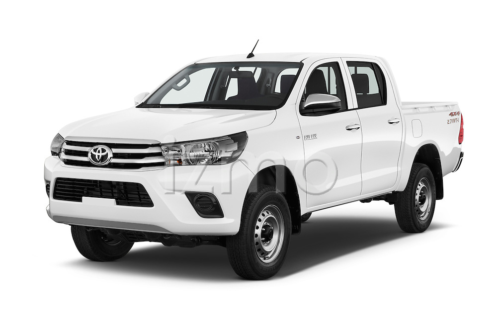 2016 Toyota Hilux GL 4 Door Pickup Angular Front stock photos of front three quarter view
