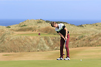 Sean Flanagan (Co. Sligo) on the 16th green during Round 2 - Strokeplay of the North of Ireland Championship at Royal Portrush Golf Club, Portrush, Co. Antrim on Tuesday 10th July 2018.<br /> Picture:  Thos Caffrey / Golffile