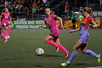 Rochester, NY - Saturday Aug. 27, 2016: Janice Cayman, Kealia Ohai during a regular season National Women's Soccer League (NWSL) match between the Western New York Flash and the Houston Dash at Rochester Rhinos Stadium.