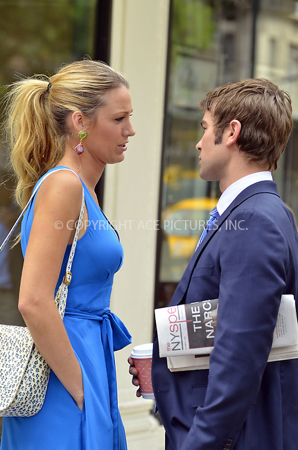 WWW.ACEPIXS.COM ************....July 17 2012, New York City....Actors Blake Lively and Chace Crawford on the set of the TV show 'Gossip Girl' on July 17 2012 in New York City....Please byline: CURTIS MEANS - ACE PICTURES.. *** ***  ..Ace Pictures, Inc:  ..tel: (646) 769 0430..e-mail: info@acepixs.com..web: http://www.acepixs.com