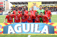 IPIALES-COLOMBIA ,03-02-2019.Formación del Deportivo Pasto ante el Once Caldas.Acción de juego entre los equipos Deportivo Pasto Y Once Caldas durante partido por la fecha 3 de la Liga Águila I 2019 jugado en el estadio Municipal de Ipiales./ Team of Deportivo Pasto agaisnt Once Caldas.Action game between  Deportivo Pasto  and Once Caldas teams during the match for the date 3 of the Aguila League I 2019 played at Municipal stadium in Ipiales city. Photo: VizzorImage/ Leonardo Castro / Contribuidor