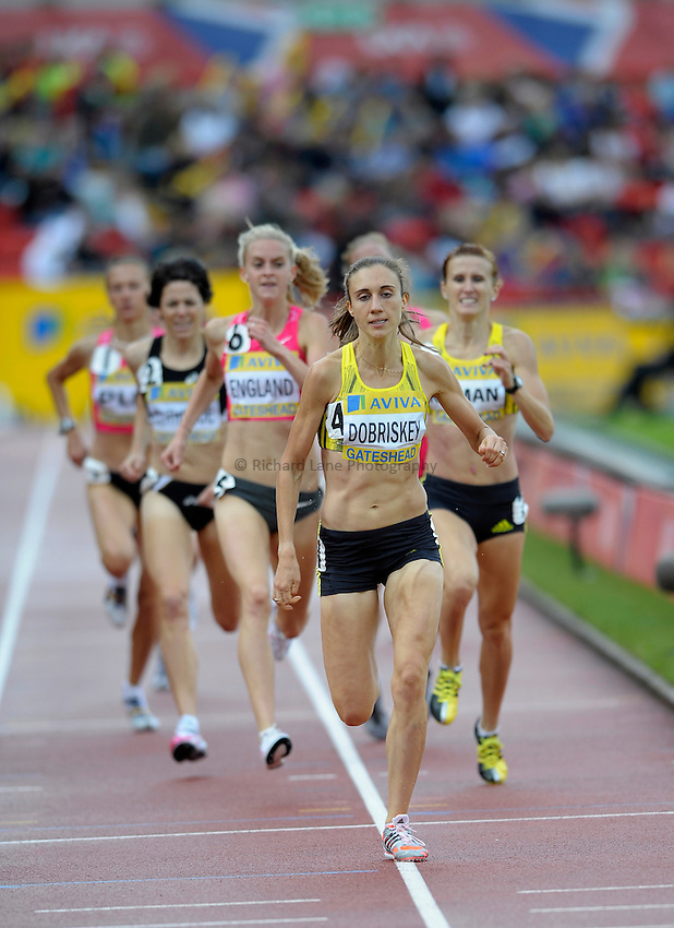 Photo: Ady Kerry/Richard Lane Photography..Aviva British Grand Prix. 31/08/2009. .Lisa Dobriskey wins the 1500m