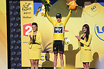 Chris Froome (GBR) Team Sky retains the Yellow Jersey at the end of Stage 18 of the 104th edition of the Tour de France 2017, running 179.5km from Briancon to the summit of Col d'Izoard, France. 20th July 2017.<br /> Picture: Andy Brady | Cyclefile<br /> <br /> All photos usage must carry mandatory copyright credit (&copy; Cyclefile | Andy Brady)