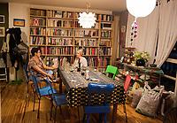 Annuska and Melanie Smith. Family at the progreso apartment, Escandon, Mexico City, Mexico