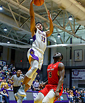 Stony Brook defeats UAlbany  69-60 in the America East Conference tournament quaterfinals at the  SEFCU Arena, Mar. 3, 2018.  David Nichols (#13).