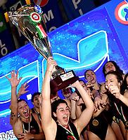 SIS Esultanza Vittoria <br /> Roma 06/01/2019 Centro Federale  <br /> Final Six Pallanuoto Donne Coppa Italia <br /> SIS Roma - Rapallo Pallanuoto Finale 1-2 posto <br /> Foto Andrea Staccioli/Deepbluemedia/Insidefoto