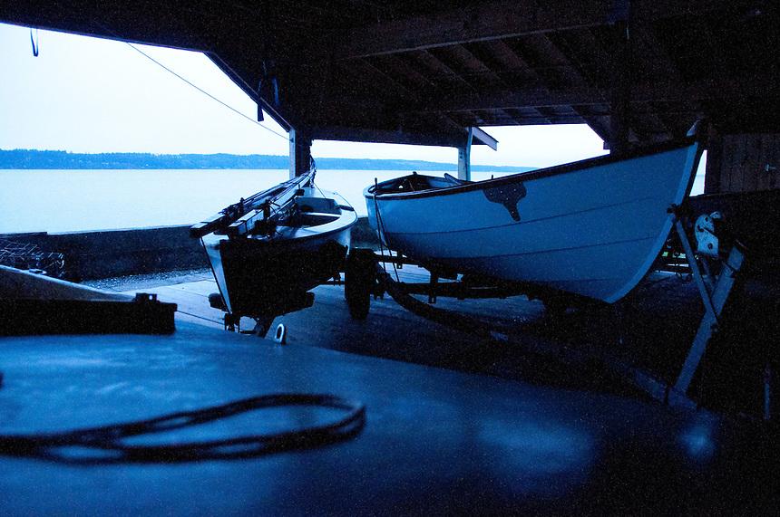 The Center for Wooden Boats, Cama Beach State Park, Camano Island, Washington, US