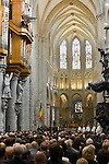 Illustration during the Te Deum mass, on the occasion of today's Belgian National Day, at the Saint Michael and St Gudula Cathedral<br /> Brussels, 21 July 2015, Belgium