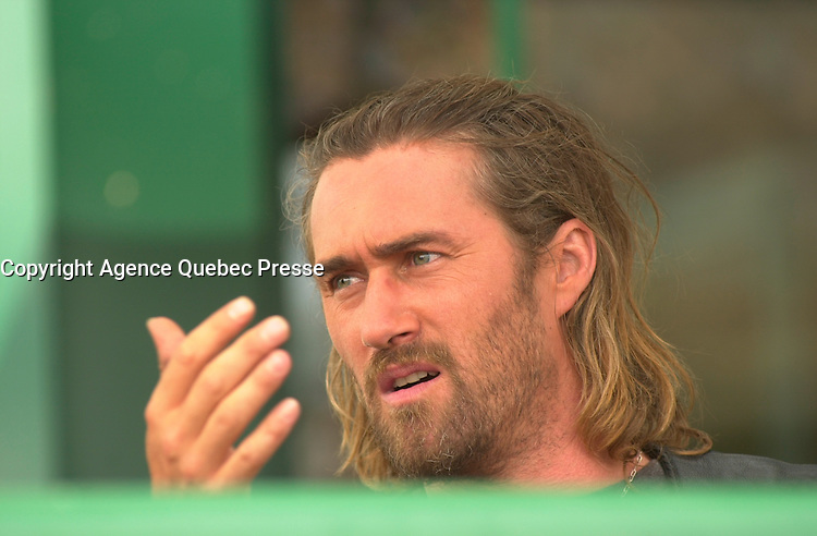 August 2002 file photo - Actor Roy Dupuis on  the set of THE LAST CHAPTER - LE DERNIER CHAPITRE about  criminal Bikers Gangs in Canada