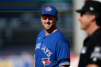 Toronto Blue Jays Patrick Kivlehan (46) during a Spring Training game against the New York Yankees on February 22, 2020 at the George M. Steinbrenner Field in Tampa, Florida.  (Mike Janes/Four Seam Images)