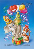 Interlitho, Lorella, CUTE ANIMALS, paintings, elephant, tiger, turtle(KL3484,#AC#)