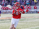 UAlbany Men's Lacrosse defeats Stony Brook on March 31 at Casey Stadium.  Patrick Kaschalk (#91).