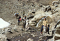 Iran 1981.A French medical team on the track in the mountains of Kurdistan
