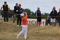 Sun-ju Ahn (KOR) on the 1st during Round 3 of the Ricoh Women's British Open at Royal Lytham &amp; St. Annes on Saturday 4th August 2018.<br /> Picture:  Thos Caffrey / Golffile<br /> <br /> All photo usage must carry mandatory copyright credit (&copy; Golffile | Thos Caffrey)
