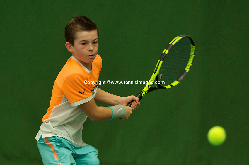 Almere, Netherlands, December 6, 2015, Winter Youth Circuit, Daniel Verbeek (NED)<br /> Photo: Tennisimages/Henk Koster