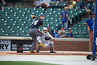 Cole Turney (14) of Fort Bend Travis High School in Richmond, Texas during the home run derby before the Under Armour All-American Game presented by Baseball Factory on July 23, 2016 at Wrigley Field in Chicago, Illinois.  (Mike Janes/Four Seam Images)