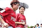 (L to R) <br /> Nozomi Fujita, <br /> Hikaru Naomoto (Reds), <br /> MAY 4, 2014 - Football /Soccer : <br /> Plenus Nadeshiko League 2014 <br /> between Urawa Reds Ladies 1-3 Okayama Yunogo Belle <br /> at Saitama Urawa Komaba Stadium, Saitama, Japan. <br /> (Photo by AFLO SPORT) [1205]