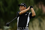 TAIPEI, TAIWAN - NOVEMBER 19:  Shih-Ming Huang of Taiwan tees off on the 1st hole during day two of the Fubon Senior Open at Miramar Golf & Country Club on November 19, 2011 in Taipei, Taiwan. Photo by Victor Fraile / The Power of Sport Images