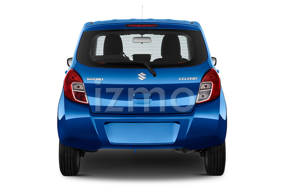 Straight rear view of a 2015 Suzuki CELERIO Grand Luxe Xtra 5 Door Hatchback Rear View  stock images