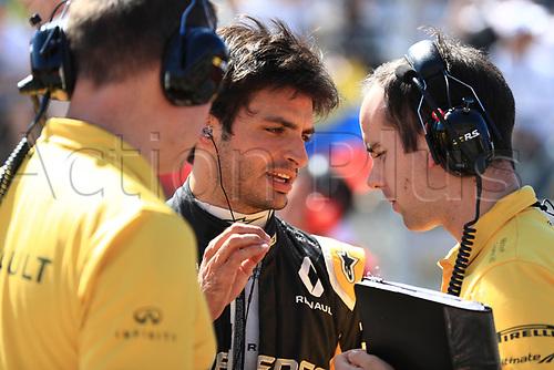 22nd October 2017, Circuit of the Americas, Austin, USA; American Formula One Grand Prix, Race Day; Carlos Sainz - Renault Sport F1 Team