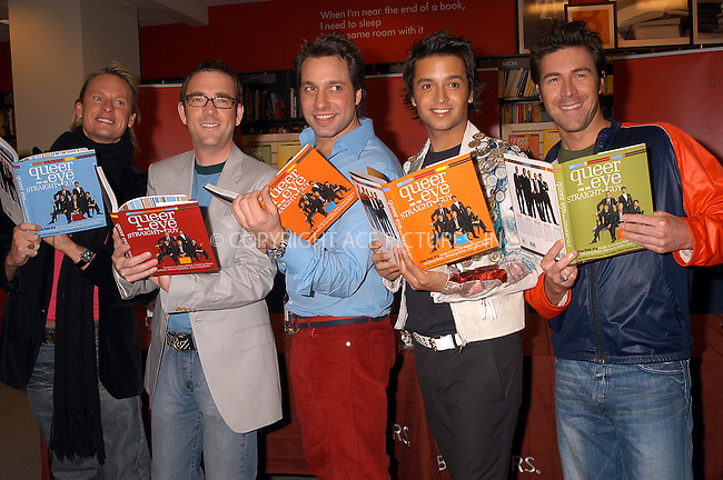 The Fab 5 'Queer Eye for the Straight Guy' sign their new book at Borders Store. PICTURED (L to R): CARSON KRESSLEY, TED ALLEN, THOM FILICIA, JAI RODRIGUEZ and KYAN DOUGLAS. New York, February 18, 2004. Please byline: AJ SOKALNER/ACE Pictures.   ..*PAY-PER-USE*      ....IMPORTANT: Please note that our old trade name, NEW YORK PHOTO PRESS (NYPP), is replaced by new name, ACE PICTURES. New York Photo Press and ACE Pictures are owned by All Celebrity Entertainment, Inc.......All Celebrity Entertainment, Inc:  ..contact: Alecsey Boldeskul (646) 267-6913 ..Philip Vaughan (646) 769-0430..e-mail: info@nyphotopress.com