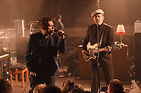 LONDON, ENGLAND - DECEMBER 4: Damon Albarn and Paul Simonon of 'The Good, the Bad &amp; the Queen performing at EartH' on December 4, 2018 in London, England.<br /> CAP/MAR<br /> &copy;MAR/Capital Pictures
