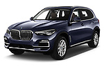 2019 BMW X5 x Line 5 Door SUV angular front stock photos of front three quarter view