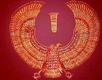 Egypt:  Vulture Collar--gold.  Treasures of Tutankhamun, Cairo Museum. MMA 1976.
