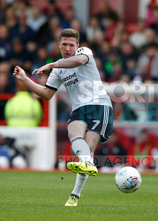John Lundstram of Sheffield Utd during the Championship match at the City Ground Stadium, Nottingham. Picture date 30th September 2017. Picture credit should read: Simon Bellis/Sportimage