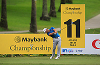 Adrian Otaegui (ESP) in action on the 11th during Round 2 of the Maybank Championship at the Saujana Golf and Country Club in Kuala Lumpur on Friday 2nd February 2018.<br /> Picture:  Thos Caffrey / www.golffile.ie<br /> <br /> All photo usage must carry mandatory copyright credit (&copy; Golffile | Thos Caffrey)