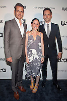 Gabriel Macht, Alexandra Shapiro &amp; Patrick J. Adams at the USA Network and Mr. Porter Presents &quot;A SUITS STORY&quot; event at NYC's High Line in New York City.  June 12, 2012. &copy; Laura Trevino/MediaPunch Inc NORTEPHOTO.COM<br /> NORTEPHOTO.COM