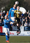 Nicky Law and Bilel Mohsni with Stephen Hughes of East Fife