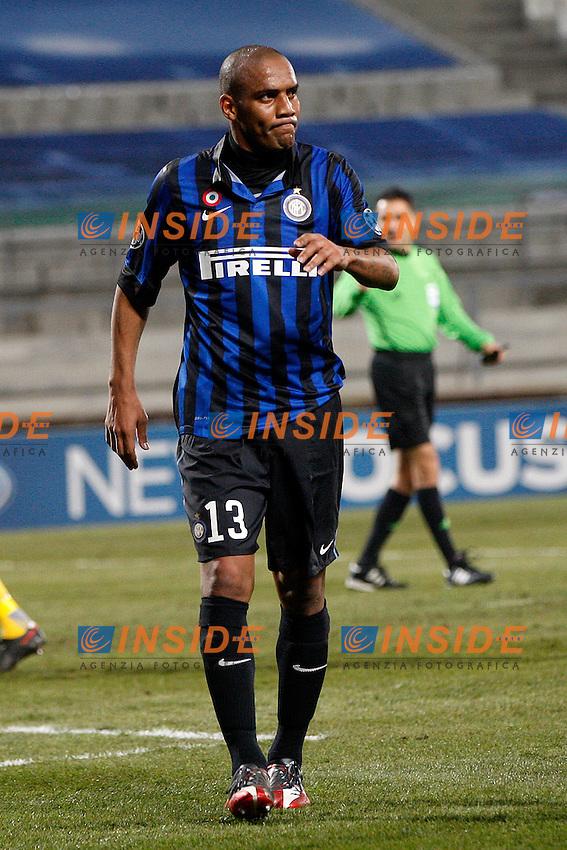 """Douglas Maicon Inter.Marsiglia 22/02/2012 Stadio """"Velodrome"""".Football / Calcio Champions League 2011/2012.OM Marseille vs Inter.Foto Insidefoto Paolo Nucci"""