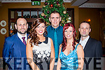 Hardly normal<br /> --------------------<br /> Pictured in the Ballygarry house hotel, Tralee last Saturday night at their staff party from Harvey Norman, Manor, Tralee were Greg &amp; Karen Healy, Danila Donovan, karen o'Mahon with Sebastian Kalista.