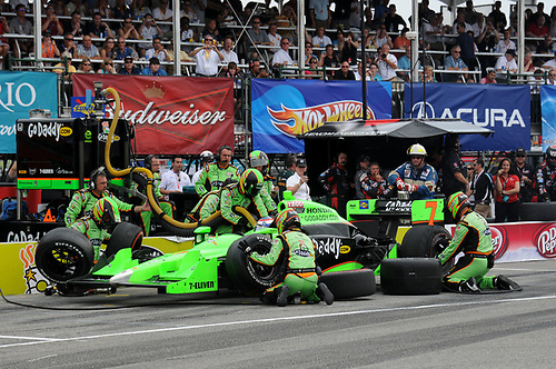 8-10 July, 2011, Toronto, Ontario CA<br /> Danica Patrick pit stop.<br /> (c)2011, Paul Webb<br /> LAT Photo USA