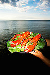 Canada, New Brunswick, Lobster     .Photo: cnbrun103.Photo Copyright: Lee Foster, 510-549-2202, lee@fostertravel.com, www.fostertravel.com