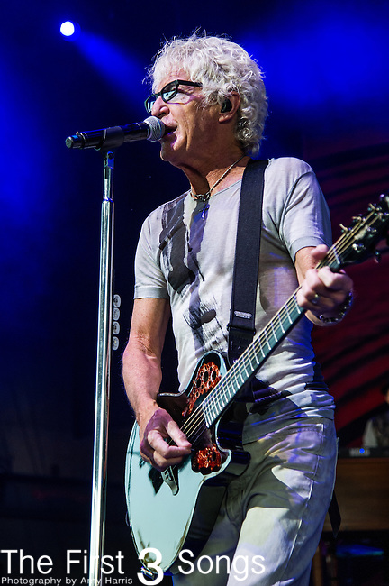 Kevin Cronin of REO Speedwagon performs at Riverbend Music Center in Cincinnati, Ohio.